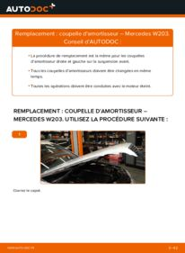 Comment effectuer un remplacement de Coupelle d'Amortisseur sur C 220 CDI 2.2 (203.006) Mercedes W203
