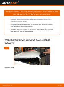 Comment effectuer un remplacement de Ressort d'Amortisseur sur C 220 CDI 2.2 (203.006) Mercedes W203
