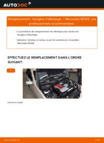 Comment effectuer un remplacement de Bougies d'Allumage sur C 220 CDI 2.2 (203.006) Mercedes W203