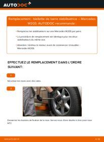 Comment effectuer un remplacement de Biellette De Barre Stabilisatrice sur C 220 CDI 2.2 (203.006) Mercedes W203
