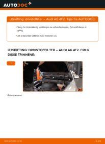 Slik bytter du Drivstoffilter på AUDI A6