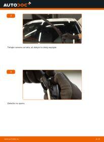 Ako vykonať výmenu: Stieracia liżta na C 220 CDI 2.2 (203.006) Mercedes W203