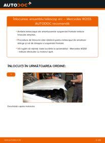 Cum să efectuați înlocuirea: Amortizor la C 220 CDI 2.2 (203.006) Mercedes W203