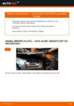 Kā nomainīt: priekšas bremžu klučus Audi A4 B8 - nomaiņas ceļvedis