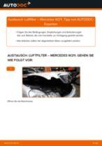 Luftfiltereinsatz Auto Ersatz auswechseln: Online-Handbuch für MERCEDES-BENZ E-CLASS