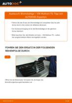 Wie Bremsklötze VW MULTIVAN wechseln und einstellen: PDF-Leitfaden