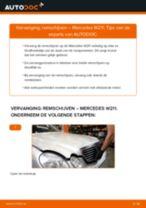 PDF handleiding voor vervanging: Schijfremmen MERCEDES-BENZ E-Klasse Sedan (W211) achter en vóór
