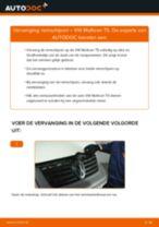 Remschijven vervangen VW MULTIVAN: werkplaatshandboek