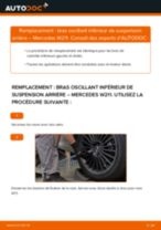 Comment changer : bras oscillant inférieur de suspension arrière sur Mercedes W211 - Guide de remplacement