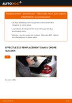 Comment changer : amortisseur arrière sur Mercedes W211 - Guide de remplacement