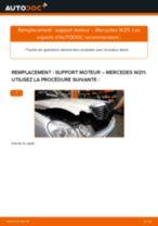 Comment changer : support moteur gauche sur Mercedes W211 - Guide de remplacement