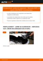 Comment changer : jambe de suspension avant sur Mercedes W211 - Guide de remplacement