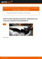 Cómo cambiar: soporte de motor de la izquierda - Mercedes W211 | Guía de sustitución