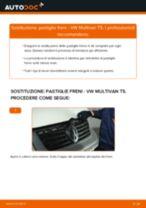 Come cambiare pastiglie freno della parte posteriore su VW Multivan T5 - Guida alla sostituzione