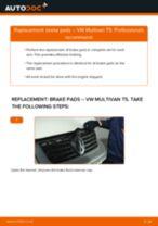Replacing Anti roll bar bush kit VW MULTIVAN: free pdf
