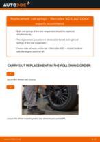 Replacing Coil spring MERCEDES-BENZ E-CLASS: free pdf