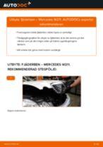 Hur byter man och justera Fjäderben MERCEDES-BENZ E-CLASS: pdf instruktioner