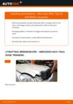 PDF med trinn for trinn-veiledning for bytte av MERCEDES-BENZ E-CLASS (W211) Bremseskiver