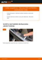 Kuinka vaihtaa sivupeilin lasi Mercedes W211-autoon – vaihto-ohje