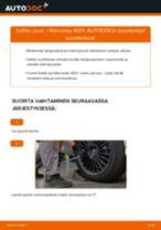 Kuinka vaihtaa jousi taakse Mercedes W211-autoon – vaihto-ohje