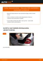 Kuinka vaihtaa iskunvaimentimet taakse Mercedes W211-autoon – vaihto-ohje