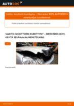 Kuinka vaihtaa moottorin kumityyny vasemmalle Mercedes W211-autoon – vaihto-ohje