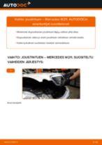 Kuinka vaihtaa joustintuki eteen Mercedes W211-autoon – vaihto-ohje