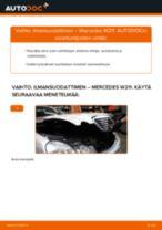 Kuinka vaihtaa ilmansuodattimen Mercedes W211-autoon – vaihto-ohje
