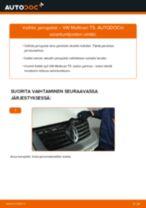 Kuinka vaihtaa jarrupalat eteen VW Multivan T5-autoon – vaihto-ohje
