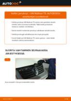 Kuinka vaihtaa jarrulevyt eteen VW Multivan T5-autoon – vaihto-ohje