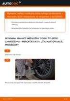 Jak wymienić wahacz wzdłużny dolny tylnego zawieszenia w Mercedes W211 - poradnik naprawy