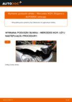 Jak wymienić poduszka silnika po lewej stronie w Mercedes W211 - poradnik naprawy