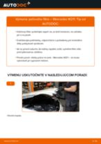 Odporúčania od automechanikov k výmene MERCEDES-BENZ Mercedes W210 E 220 CDI 2.2 (210.006) Kabínový filter