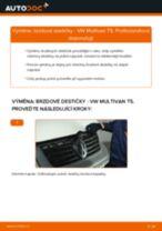 Online návod jak vyměnit Brzdové Destičky na VW MULTIVAN V (7HM, 7HN, 7HF, 7EF, 7EM, 7EN)