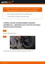 Jak vyměnit a regulovat Řídící páka zavěšení kol MERCEDES-BENZ E-CLASS: průvodce pdf