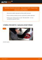 Vyměnit Sada brzdových čelistí MERCEDES-BENZ E-CLASS: dílenská příručka
