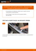 Como mudar vidro espelho retrovisor em Mercedes W211 - guia de substituição