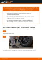 Como mudar molas de suspensão da parte traseira em Mercedes W211 - guia de substituição