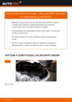 Como mudar discos de travão da parte traseira em Mercedes W211 - guia de substituição