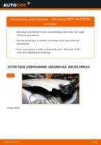 MERCEDES-BENZ tagumine ja eesmine Piduriklotsid vahetamine DIY - online käsiraamatute pdf
