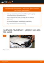 MERCEDES-BENZ E-CLASS Piduriketas vahetus: tasuta pdf
