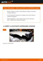 Hogyan cseréje és állítsuk be Fékbetét készlet MERCEDES-BENZ E-CLASS: pdf útmutató