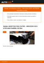 MERCEDES-BENZ E-CLASS Amortizators maiņa: bezmaksas pdf