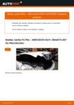 MERCEDES-BENZ Gaisa filtrs nomaiņa dari-to-pats - tiešsaistes instrukcijas pdf