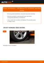 VW MULTIVAN Amortizators nomaiņa: rokasgrāmata
