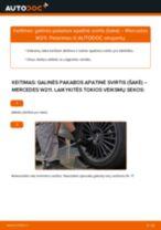 Montavimo Vikšro Valdymo Svirtis MERCEDES-BENZ E-CLASS (W211) - žingsnis po žingsnio instrukcijos