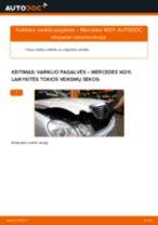 Kaip pakeisti Mercedes W211 variklio pagalvės: kairė pusė - keitimo instrukcija