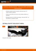 Montavimo Stabdžių Kaladėlės MERCEDES-BENZ E-CLASS (W211) - žingsnis po žingsnio instrukcijos