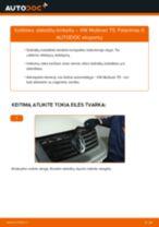 Stabdžių Kaladėlės pakeitimas VW MULTIVAN V (7HM, 7HN, 7HF, 7EF, 7EM, 7EN) - patarimai ir gudrybės