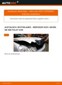Wie der Wechsel durchführt wird: Motorlager E 220 CDI 2.2 (211.006) Mercedes W211 tauschen